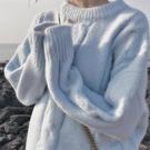 毛衣女 復古日系毛衣女冬內搭加厚小個子軟奶寬松甜美軟糯溫柔慵懶風外穿 薇薇