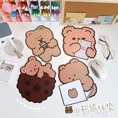 [2個]滑鼠墊 韓國小熊滑鼠墊女加厚小號膠墊可愛游戲電腦防滑桌墊鍵盤墊  新品【99免運】