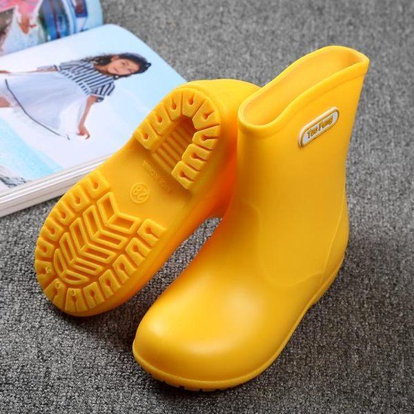 兒童雨鞋男女童防滑可配置棉套「巴黎街頭」
