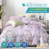 【Betrise露香栖】加大300織紗100%天絲四件式兩用被床包組