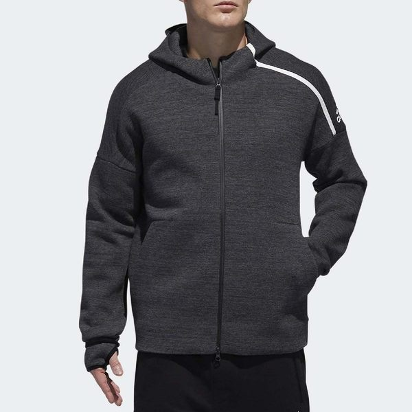 adidas 連帽外套 Z.N.E Storm 灰 白 ZNE 保暖系列 運動夾克 男款 【PUMP306】 DY5762