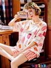 家居服 2021年新款睡衣女夏季薄純棉短袖網紅爆款兩件套裝家居服春秋夏天寶貝計畫 上新