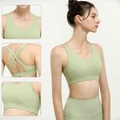 運動文胸防震薄款美背健身透氣速干背心無鋼圈夏季高強度瑜伽內衣