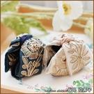 『坂井.亞希子』輕奢優雅法式復古宮廷風華手工刺繡花朵造型髮抓夾
