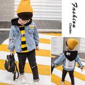 男童牛仔外套春秋裝正韓兒童夾克寶寶潮裝小男孩洋氣衣服 巴黎時尚