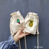 刺繡卡通水果帆布包斜背包chic風學生手機袋 k-shoes