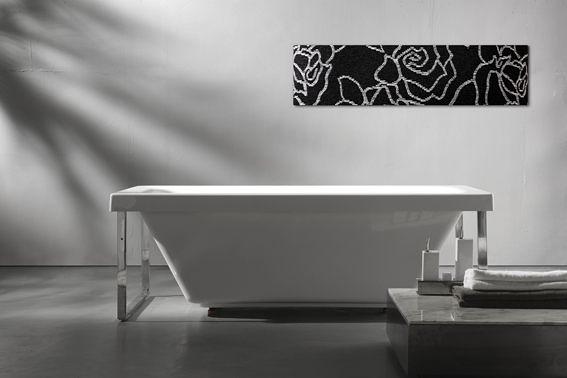 【麗室衛浴】英國ICI KERAMIN 造型浴缸含白鐵架 Profile   1700x760x610mm