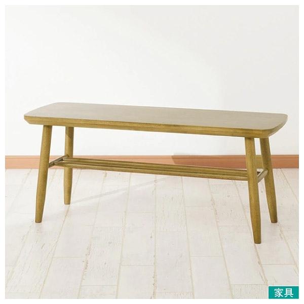 ◎實木長凳 NUTS TW 97 LBR 橡膠木 NITORI宜得利家居