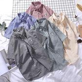 夏季新款男士港風襯衫帥氣個性短袖襯衣韓版潮流情侶條紋休閒寸衫    JSY時尚屋