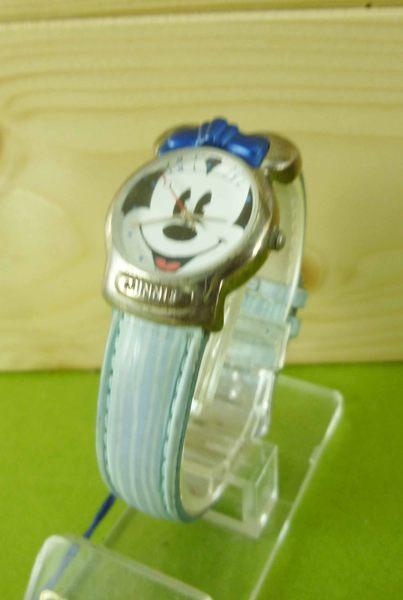 【震撼精品百貨】米奇/米妮_Micky Mouse~造型手錶-米奇大頭圖案-藍色