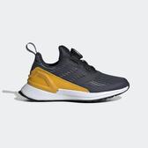 ADIDAS RapidaRun BOA K [G27302] 童鞋 運動 休閒 慢跑 路跑 透氣 柔軟 舒適 灰黑黃