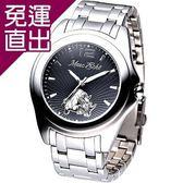 Hanna 名流精英時尚鋼帶腕錶(黑面)【免運直出】