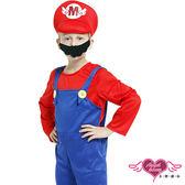 兒童角色扮演 紅藍 瑪利歐 小孩角色服 萬聖節 耶誕裝 表演服 有親子裝 天使甜心AngelHoney