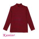【Kanier卡妮兒】911女生橫條高領保暖衣(L/XL)
