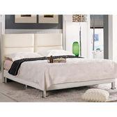皮床 布床架 MK-658-3 安蒂6尺雙人床(白色皮)(不含床墊及床上用品)【大眾家居舘】