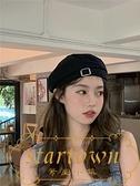 貝雷帽女春秋適合圓臉畫家蓓蕾韓版帽子【繁星小鎮】