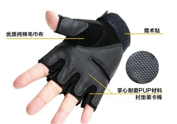 軍迷半指手套特種兵健身戶外戰術