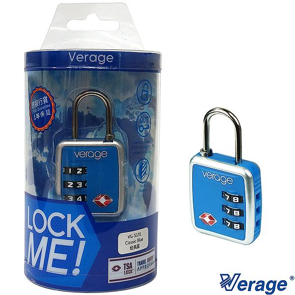 Verage 維麗杰 時尚系列TSA海關密碼鎖(藍)