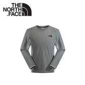 【The North Face 男 FLASHDRY長袖T恤《霧淡灰》】NF0A2UCTDYX/保暖長袖/休閒服/圓領衫