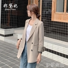 外套 ins網紅小西裝外套女氣質春季韓版寬鬆休閒百搭西服中長款