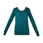 【南紡購物中心】Tommy Hilfiger 經典刺繡標誌長袖圓領針織毛衣-綠