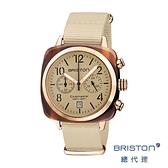 BRISTON 手工方糖錶 香草色 玫瑰金框 時尚百搭 禮物首選