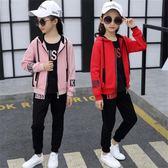 運動套裝女生春秋季三件式休閒運動衣 新主流