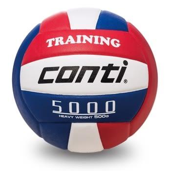 排球-舉球訓練輔助重球(500g) 紅/白/藍