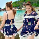 大碼泳衣女胖mm200斤性感遮肚顯瘦裙式...