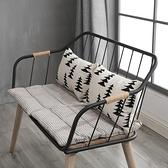 梵辰現代簡約實木家用餐椅靠背電腦椅餐廳辦公椅子休閒椅鐵藝凳子