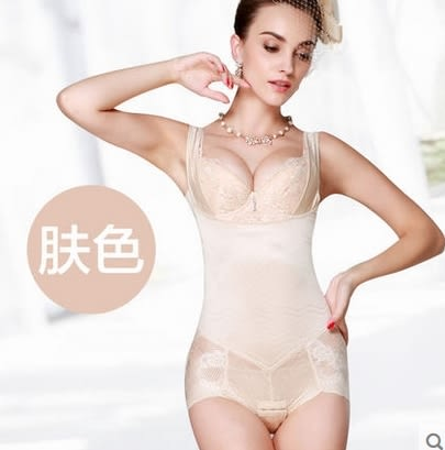 春夏束身衣 托胸收腹收胃性感便脫式束身連體衣女-ziy0015