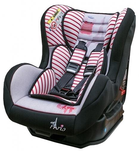 [ 家事達 ] FB00387 法國 時尚巴黎  0-4歲安全汽座-時尚紅  特價