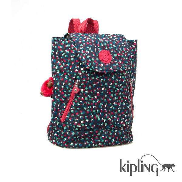 Kipling 聖誕彩燈印花後背包-中