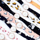 絲帶手錶女生學生綁帶圓錶盤腕錶潮流復古簡約韓版小清新百搭手錶 草莓妞妞