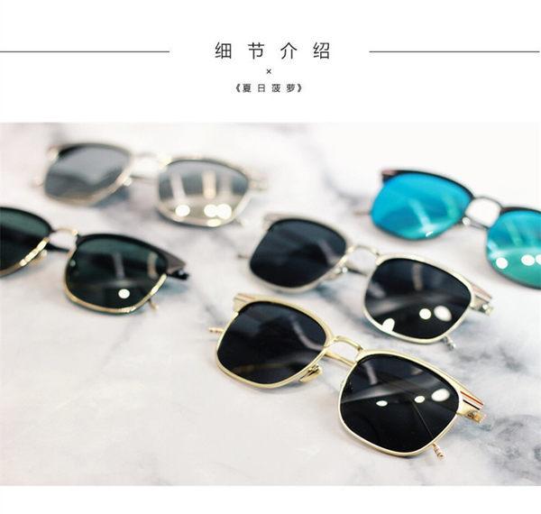 太陽眼鏡 質感歐美復古金屬半框偏光墨鏡男士駕駛太陽鏡女士旅游潮人-交換禮物