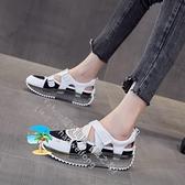 運動涼鞋女夏季韓版ins厚底小白鞋鏤空包頭女鞋潮【風之海】
