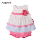 無袖套裝 上衣 上衣裙 短褲 褲子 梭織 熱褲 女寶寶 2件套 Augelute Baby 61154