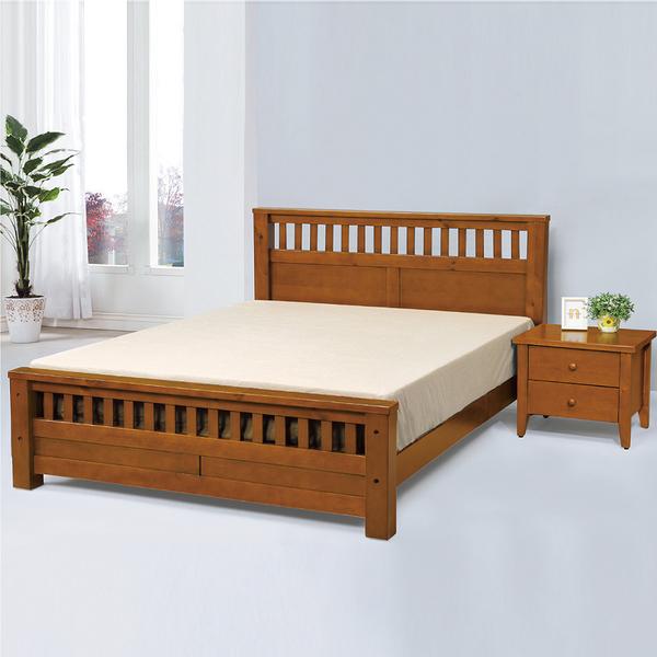 【采桔家居】 布妮 時尚3.5尺實木單人床台(不含床墊和床頭櫃)