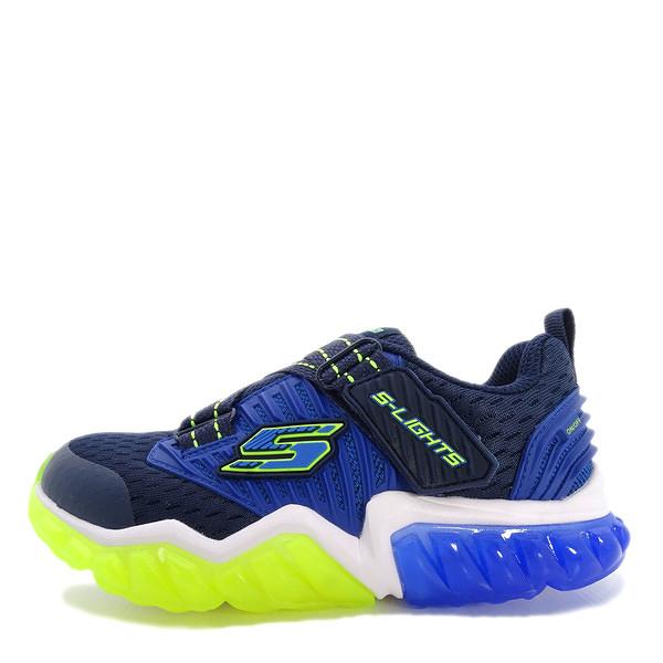 Skechers Rapid Flash [90721LNVLM] 大童鞋 運動 休閒 透氣 舒適 魔鬼氈 藍