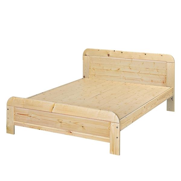 【森可家居】5尺白松木涼板床 9JX72-2 雙人 實木 床架 木紋質感 無印北歐風