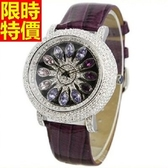 鑽錶-潮流典型造型女手錶2色5j9【巴黎精品】