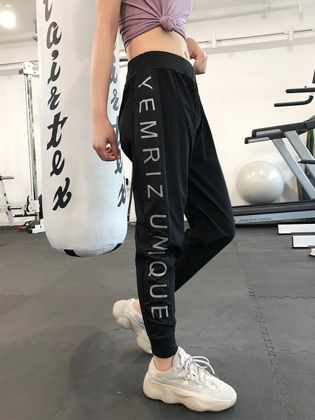 運動長褲女速干高腰瑜伽褲子