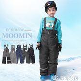 童裝兒童滑雪褲加厚背帶褲沖鋒褲男童冬棉褲子防風防水
