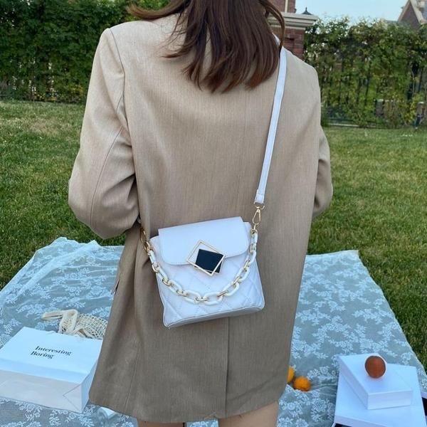 斜背包 時尚流行小包包女包新款潮韓版夏天百搭水桶包網紅單肩斜挎包 交換禮物