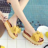 chic拖鞋外穿時尚女夏2018新款網紅同款涼拖鬆糕厚底百搭原宿女鞋-Ifashion
