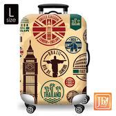 LittleChili 行李箱套-環遊世界L