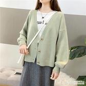 復古網紅開衫毛衣女秋冬季新款流行學生女裝寬鬆顯瘦針織衫外套女