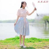 絨蓮清揚漢服女裝中國風套裝改良古風襦裙 衣普菈