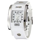捷卡 JAGA 運個性有型酷炫 冷光照明 指針錶 白色 石英錶 男錶 運動錶 中性錶 方形/方型 AQ81-D