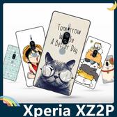 SONY Xperia XZ2 Premium 彩繪Q萌保護套 軟殼 卡通塗鴉 超薄防指紋 全包款 矽膠套 手機套 手機殼
